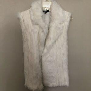 Beautiful white fur vest